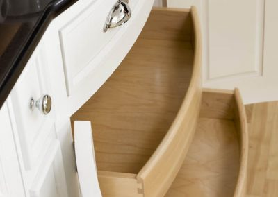 Bow Front Cabinet Roll Out Shelves